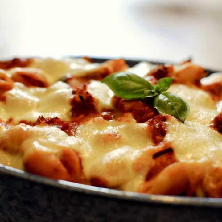 Chilli & Sausage Mozzarella Pasta Bake