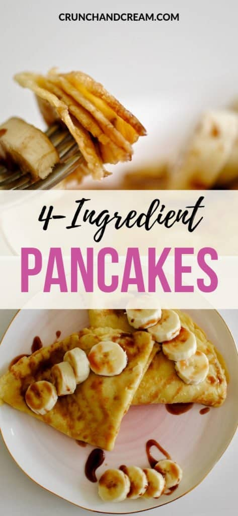 These lactose-free pancakes are dairy-free and super quick and easy to make! They only need 4 common ingredients and make a perfect weekend breakfast or brunch.