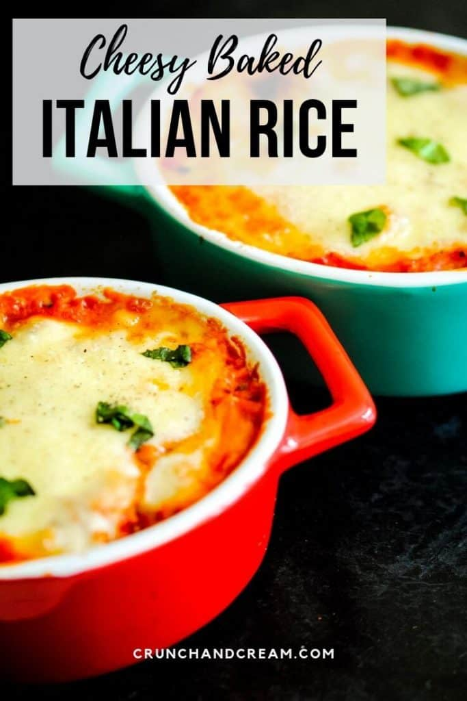 Cheesy Baked Italian Rice Crunch Cream