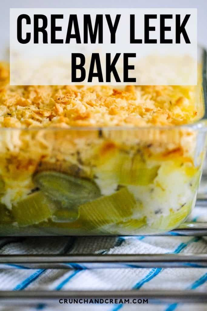 This creamy and comforting leek bake is the perfect Winter side dish. You can make it for Thanksgiving, Christmas (or just whenever you're craving something rich and creamy!) - it's a perfect alternative to cauliflower cheese or macaroni cheese! #leeksidedishrecipes #creamyleekrecipes #thankagivingsidedishrecipes #christmassidedishrecipes