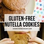 These easy nutella cookies are a 4-ingredient wonder! They're quick, easy and gluten-free! Lightly nutty, rich, chocolatey and gooey - they're perfect!