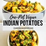 These perfectly tender Indian potatoes come together in just one pot for minimal washing up. The recipe is quick, easy, simple and full of flavour - it makes an awesome side dish!